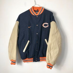 NFL Chicago bears vintage leather wool blend